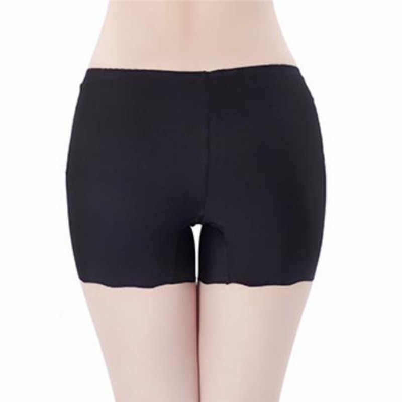 フリーサイズ下着アイスシルク平野プッシュアップヒップショーツ女性の安全ショートパンツ無地安全パンツ