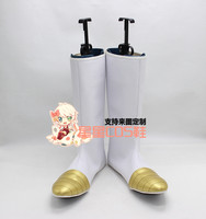 Dragon Ball Vegeta White Fancy Halloween Party Cosplay Shoes Boots X002