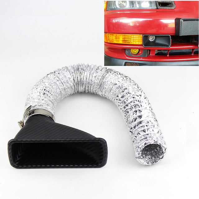 Auto Front Bumper Turbo Air Intake Pipe Turbine Inlet Pipe Air Funnel Kit Car Styling Cold Air Intake System Kit Air filter