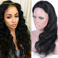 8A Grade Body Wave Full Lace Human Hair Wig With Baby Hair Virgin Brazilian Lace Front Wig with Bangs for Black Women