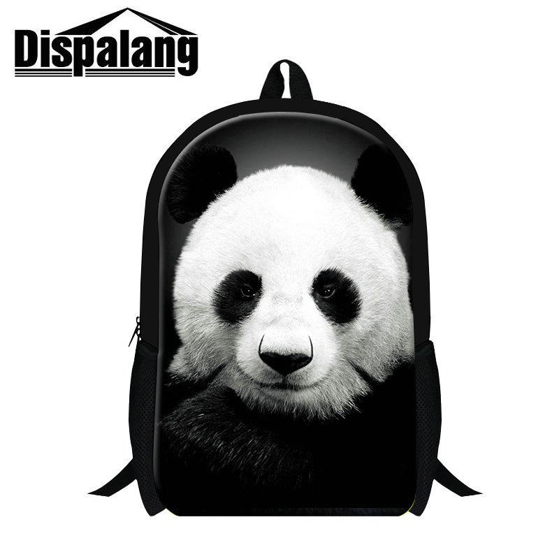 Dispalang supreme customized backpack cute animal panda 3D printing children school bagpack teenager boys grils rucksack mochila ...