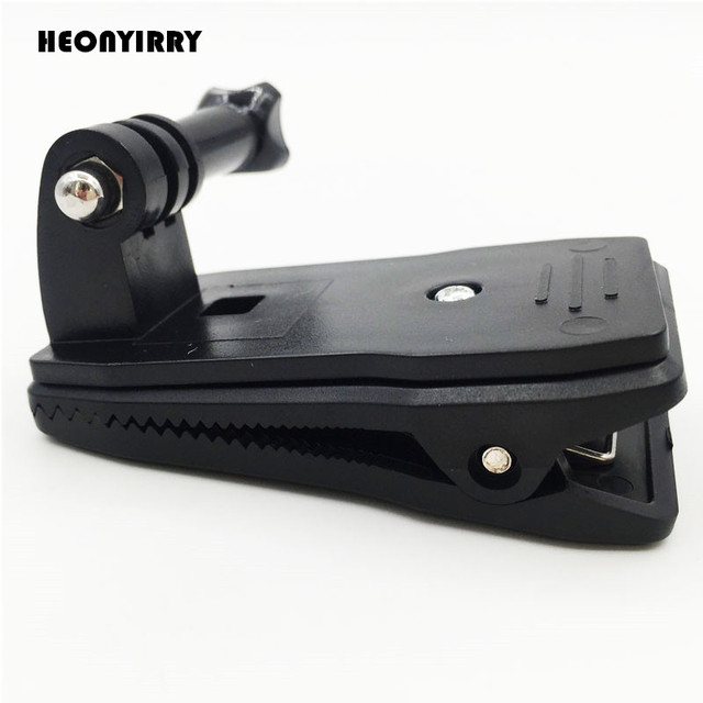 360 Degree Rotary Backpack Hat Clip Clamp Mount for Gopro Hero 5 3 4 Session SJCAM SJ4000 For Xiaomi Yi 4K Go Pro Accessory