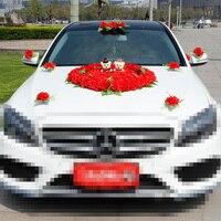 3สีปลอมรถแต่งงานตกแต่งดอกไม้ประดิษฐ์เกสรDeco M Ariageดอกไม้ชุดPom Pomsตกแต่งแต่งงานอุปกรณ์