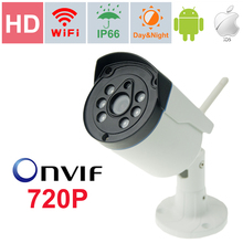 Wi-fi ip-камера 1.0 Мегапикселя 720 P HD H.264 Onvif мини ip камеры HD Камеры безопасности Беспроводной открытый ИК-CUT P2P ВИДЕОНАБЛЮДЕНИЯ камера