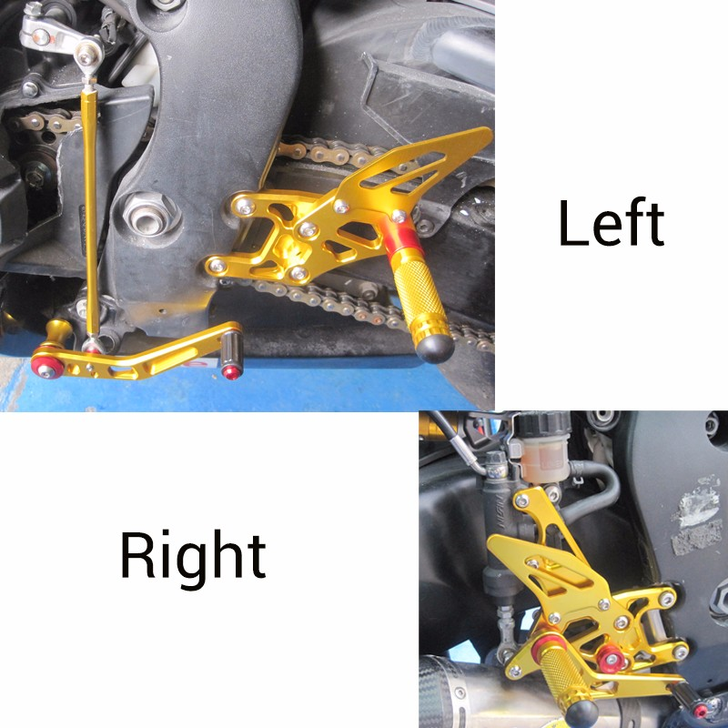 KEMiMOTO New Rear Sets For Honda CBR1000RR 2008 2009 2010 2011 2012 2013 2014 CBR 1000RR Adjustable Rearsets Foot Rests Pegs (4)