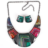MS17281 Fashion Jewelry Sets High Qulity Chunky Necklace Bridal Jewelry 6 Colors Gunmetal Plated Party Gifts
