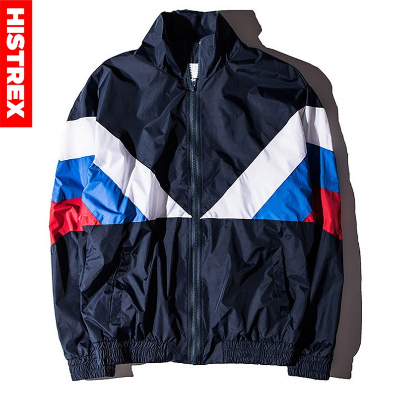 HISTREX Russian 2019 Jacket Men High Quality Russia Flag Famous Designer Nylon Windbreaker Reggae Navy Green Patchwork Coats