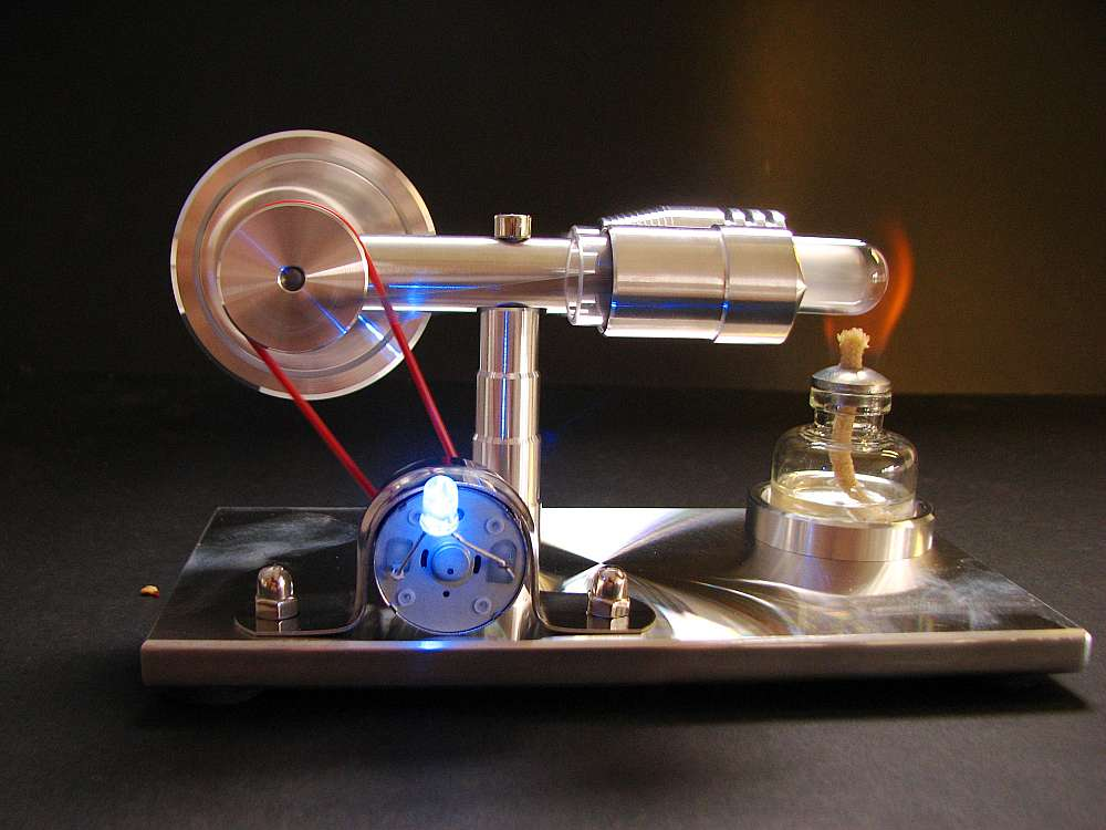 Stirling engine with  electric generator engine model science toy v4 model stirling engine generator set