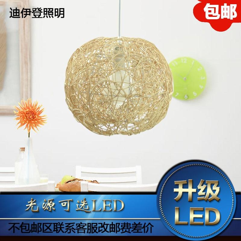 ФОТО Diiden color garden simple rattan ball pendant restaurant bedroom study lamps lighting MD1003