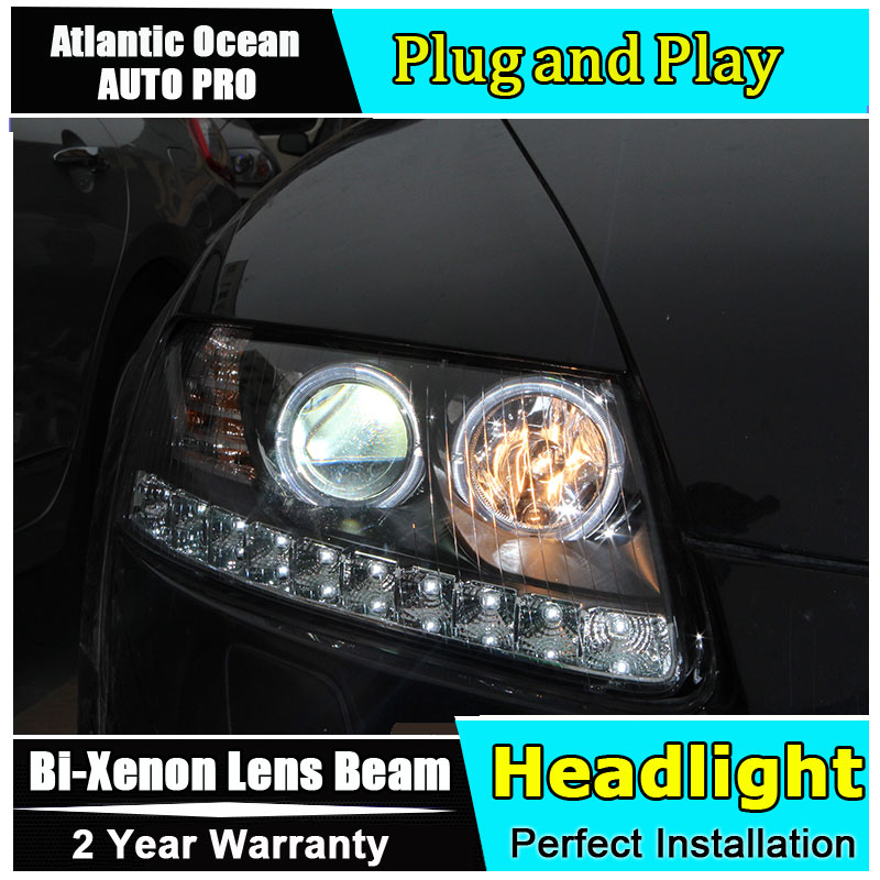 Car Styling for Audi A6 C5 Headlights 2005-2008 for A6 LED Head LAMPS DRL Lens Double Beam HID KIT Xenon bi xenon lens стоимость