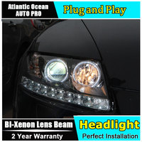 Car Styling for Audi A6 C5 Headlights 2005 2008 for A6 LED Head LAMPS DRL Lens Double Beam HID KIT Xenon bi xenon lens