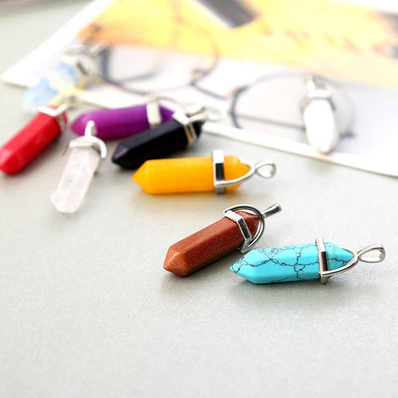 Meajoe อินเทรนด์คริสตัลเสา Bullet จี้สร้อยคออุปกรณ์เสริม 25 สีเครื่องประดับอุปกรณ์เสริมสำหรับผู้หญิง