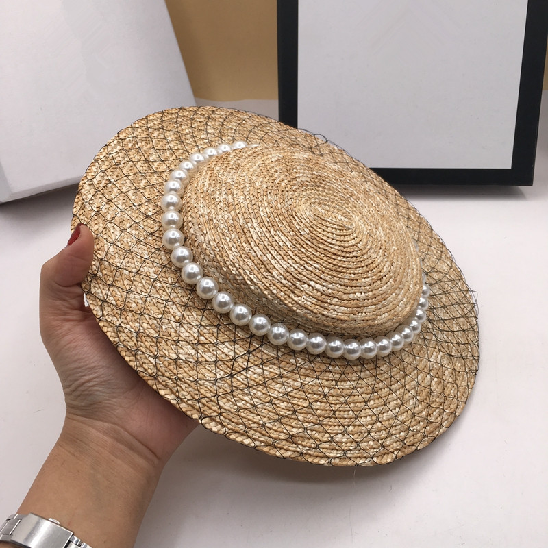 Hats For Women Ms Straw Beret Socialite Noble Hat Vintage Sun Hats