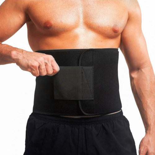 Soft Sweat Waist Trimmer Stomach Wrap Belt Slimming Fat Burn Weight Loss Body Shaper Cummerbunds
