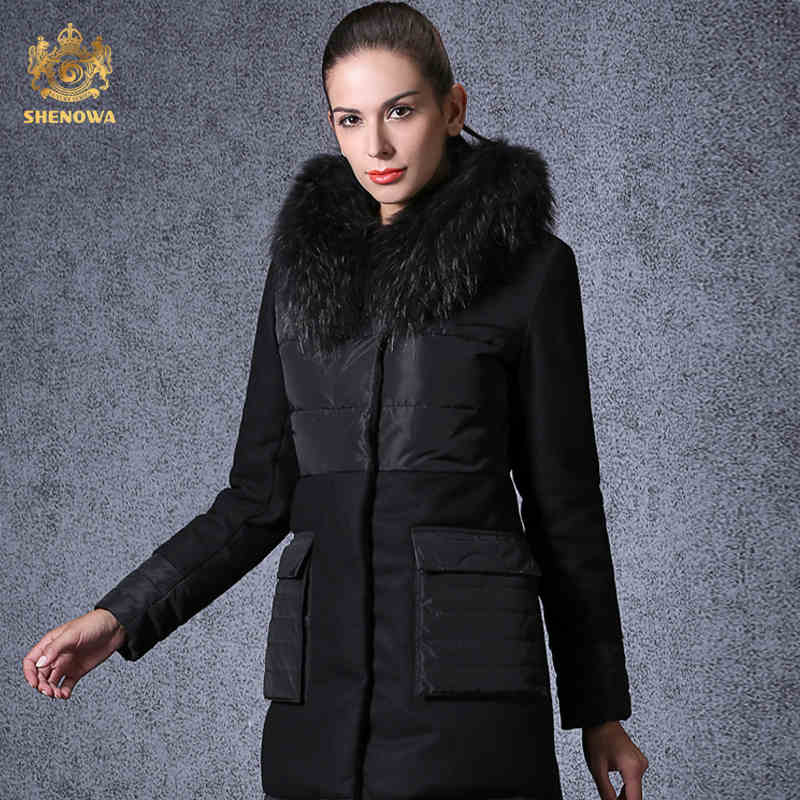 2016 new hot winter Thicken Warm woman Down jacket Coat Parkas Outerwear Hooded Raccoon Fur collar long Luxury plus size 2XXL 2016 new hot winter thicken warm woman down jacket coat parkas outerwear hooded raccoon fur collar plus size 2xxl luxury black