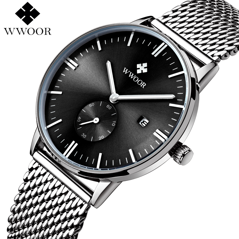Top Brand Luxury Date Analog Quartz Watch Men Waterproof Sports Watches Male Stainless Steel Strap Casual Wrist Watch Men Clock men watches top brand wwoor date clock male waterproof quartz watch men silver steel mesh strap luxury casual sports wrist watch
