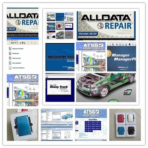 2019 Newest Alldata Software And Mitchell Demand Auto Repair Software 49in1 1000gb Hdd +atsg+vivid Workshop+heavy Truck Usb3.0