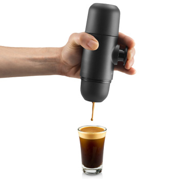 Wacaco Minipresso GR, Portable Espresso Coffee Machine, Compatible Ground Coffee, Small/Mini Travel Coffee Maker. 4