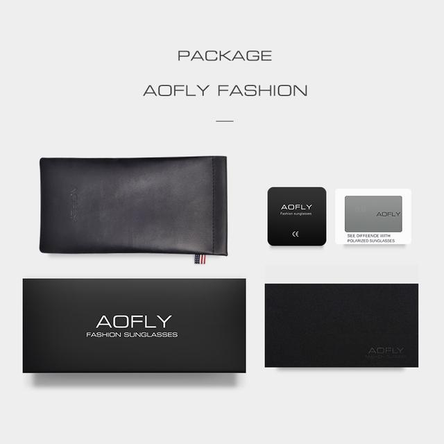 AOFLY Polarized Sunglasses Vintage Alloy Frame Classic Shades