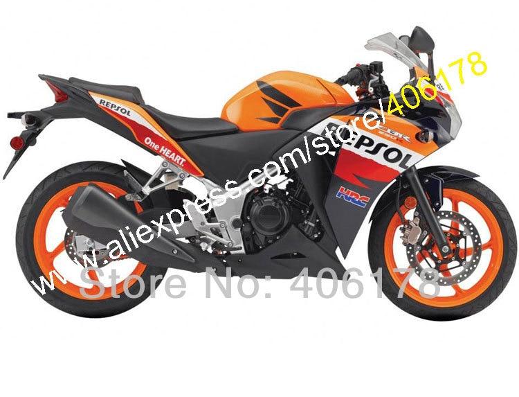 Лидер продаж, для Honda CBR250RR MC41, 11, 12, 13, 14, CBR250R 2011 2012 2013 2014 CBR 250R Repsol ABS Обтекатель Kit (литья под давлением)