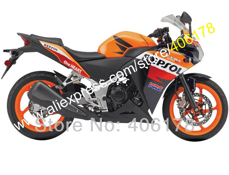 Горячие продаж,для Honda CBR250RR 11 12 13 14 CBR250R MC41 2011 2012 2013 2014 ЦБР 250р комплект компания Repsol Зализа ABS (литья под давлением)