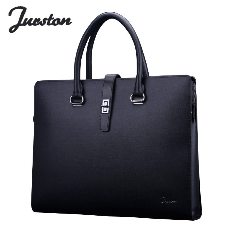 Wire man bag male handbag commercial genuine leather laptop bag high quality cowhide briefcase tote bag