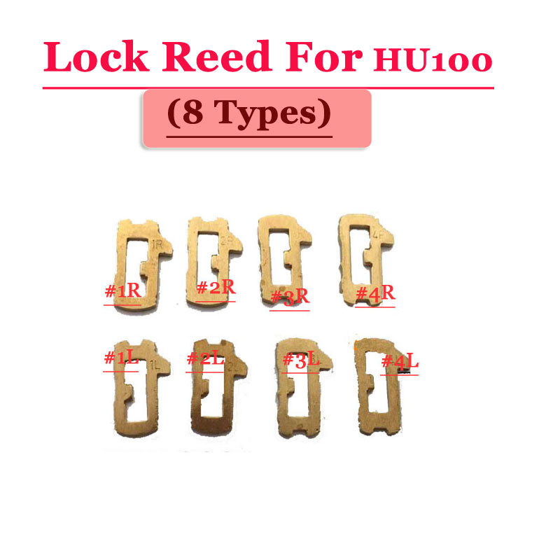 Image 3 - Free shipping (200pcs/box )hu100 car lock reed locking plate for opel lock (each type 25pcs) Repair Kits-in Sensor & Detector from Security & Protection