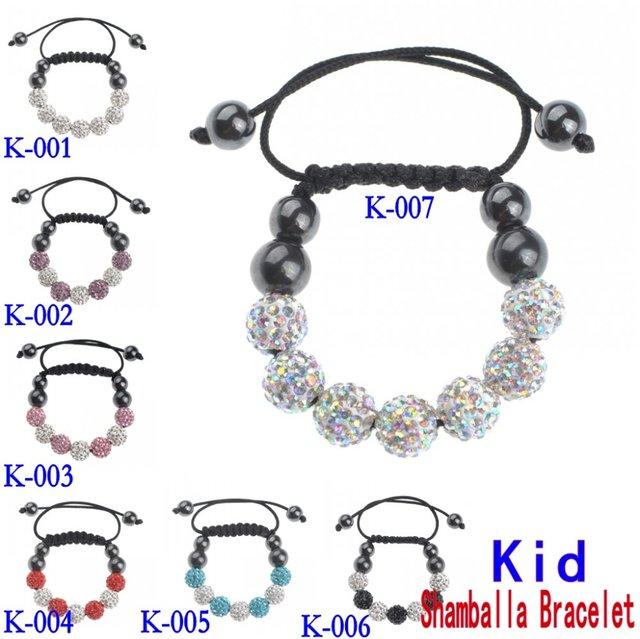Hot cute Kids Shamballa Crystal Bracelet d2d65ef5fb1be
