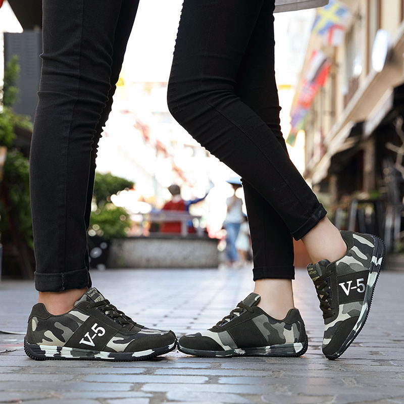 Lovers Walking Jogging Canvas Shoes Camouflage Military Men Sport Shoes Autumn Breathable Camo Women Running Shoes Basket Femme