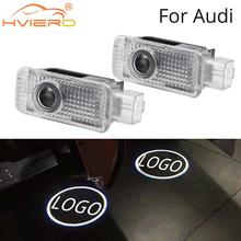 2X For Audi Door Light Welcome Projection Lamp Logo LED for logo A1 A3 A4L A6L Q3 Q5 Q5L R8 RS3 RS4 RS5 RS6 5W Laser