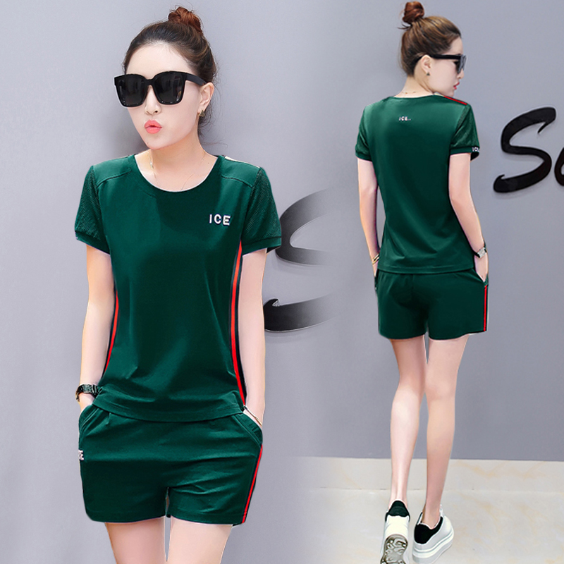 YICIYA green outfits tracksuits summer two 2 piece pant set women 2019 plus size short top and pants sportswear co-ord pcs