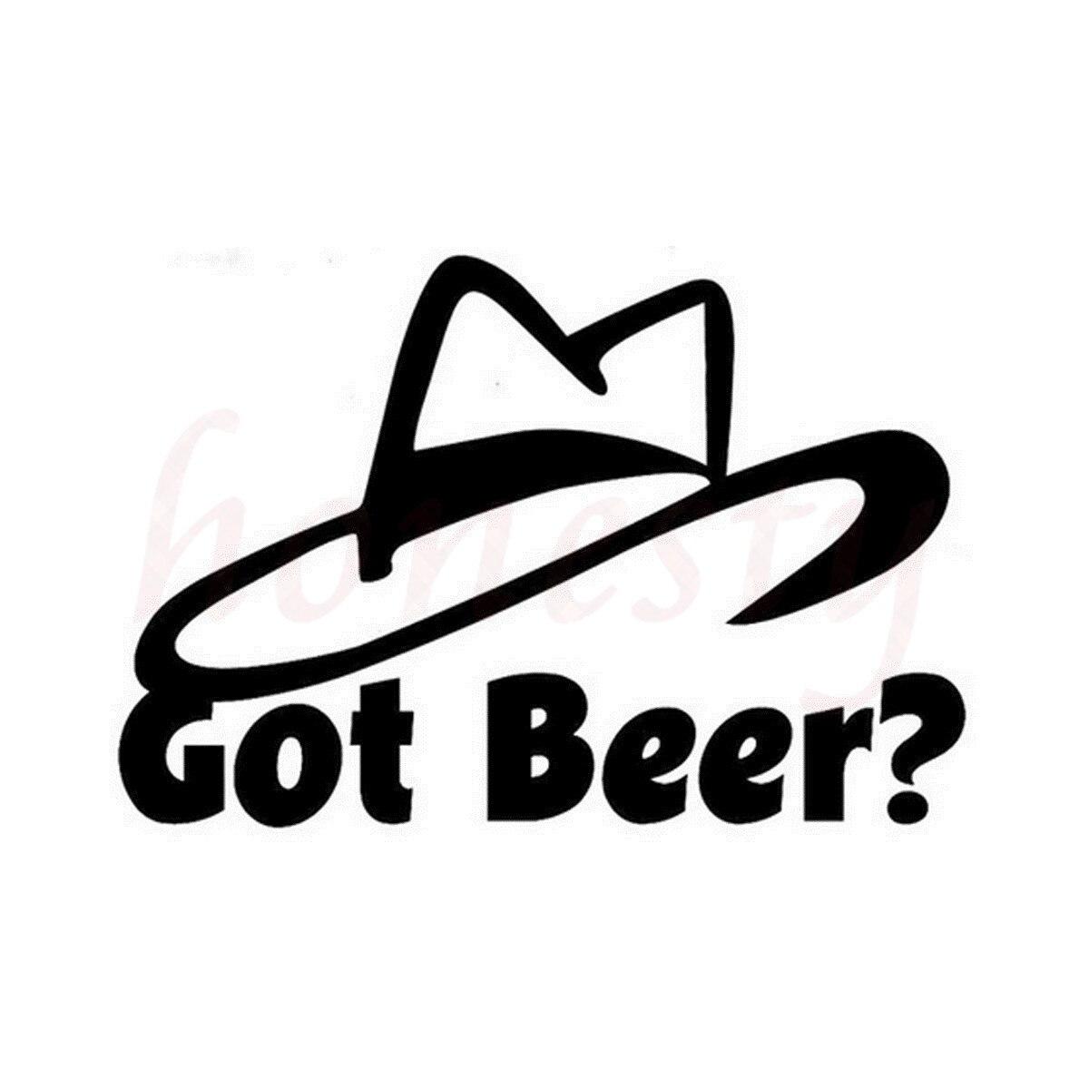 Got Beer Booze Hat Car Auto Wall Home Glass Window Door Vinyl Decal Sticker Car Accessories Car