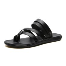 MIUBU New Outdoor Fashion Men Sandals Summer Men Shoes Sandals Men Slippers Summer Casual Leather Flat Shoes  Beach Breathable