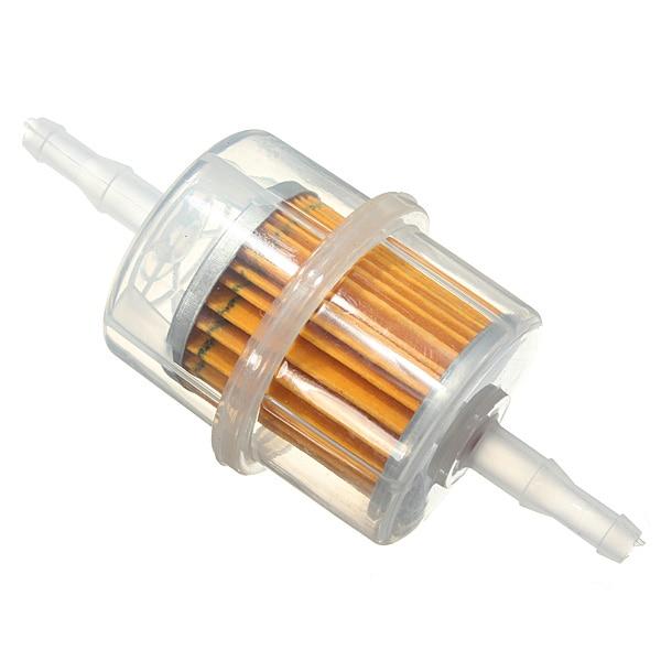где купить Universal Plastice Large Inner Fuel Filter Petrol 6mm 8mm 1/4inch 5/16inch Pipe Lines дешево