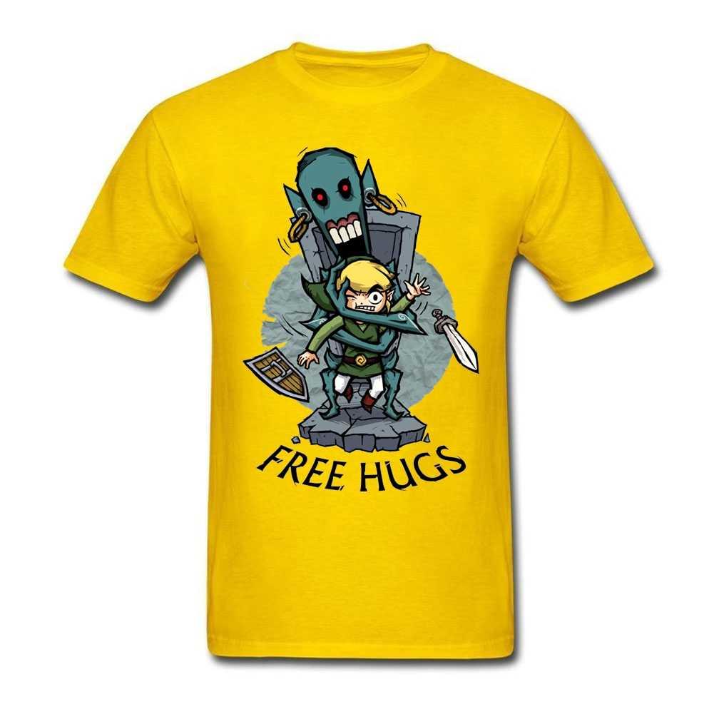 Zelda Wind Waker FREE HUGS взрослый человек облегающая футболка LUNDI DE PAQUES получить печатных футболки для мужчин топы из органического хлопка
