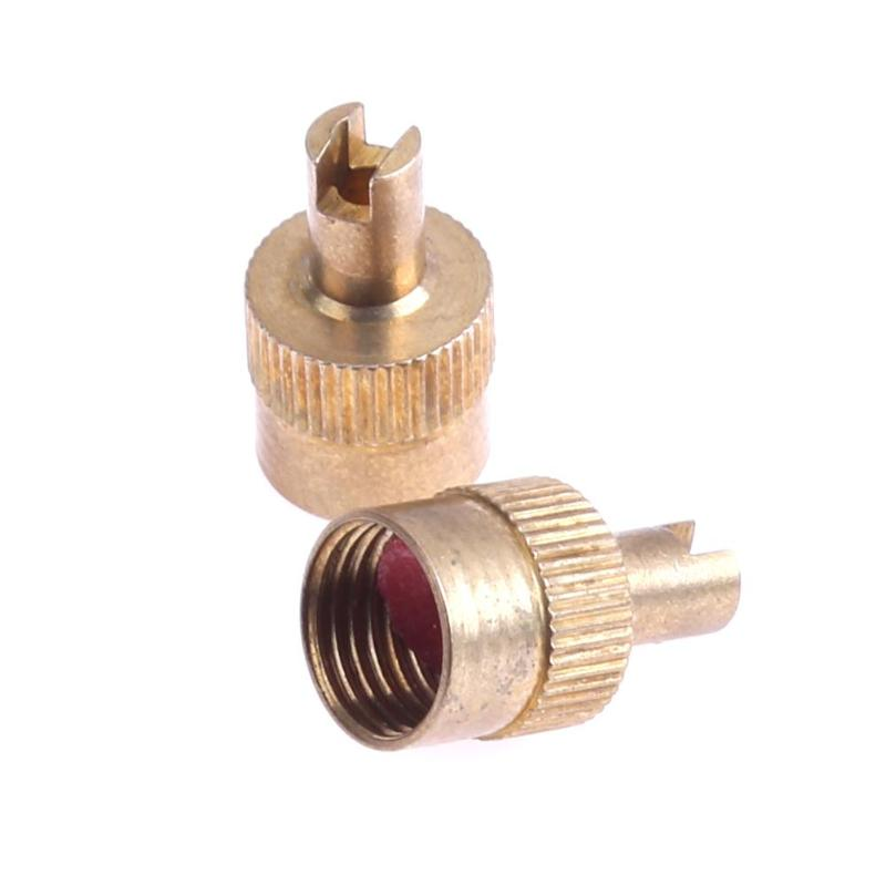 Car Motorcycle 10Pcs Copper Slotted Head Valve Stem Cap For Schrader Valve Wheel Tyre Tire Valvol Lid Dust Cover Auto Accessory