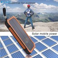 YFW 12000mAh Solar Power Bank Dual USB Poverbank Portable Charger External Battery Universal Powerbank For Camping Light SOS