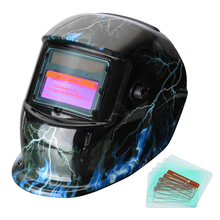 New 1PC Solar Auto Darkening Welding Helmet PP Welder Goggles/Mask/Cap with 5PCS Replacement Lens for Machine