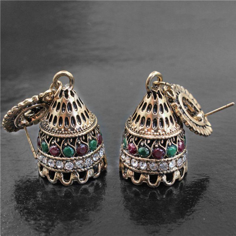 Javrick Jingle Bell Jhumka Indian Unique Ethnic Bollywood Dangle Earrings Long Jewelry Accessories Exquisite Earrings Earrings Jewelry & Accessories