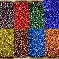 Joyería de DIY Que Hace 4 MM 40 g/bolsa Crystal Checa Granos de la Semilla de Vidrio Recubiertos de Plata Del Grano Flojo 10 Colores Escoja Su Color