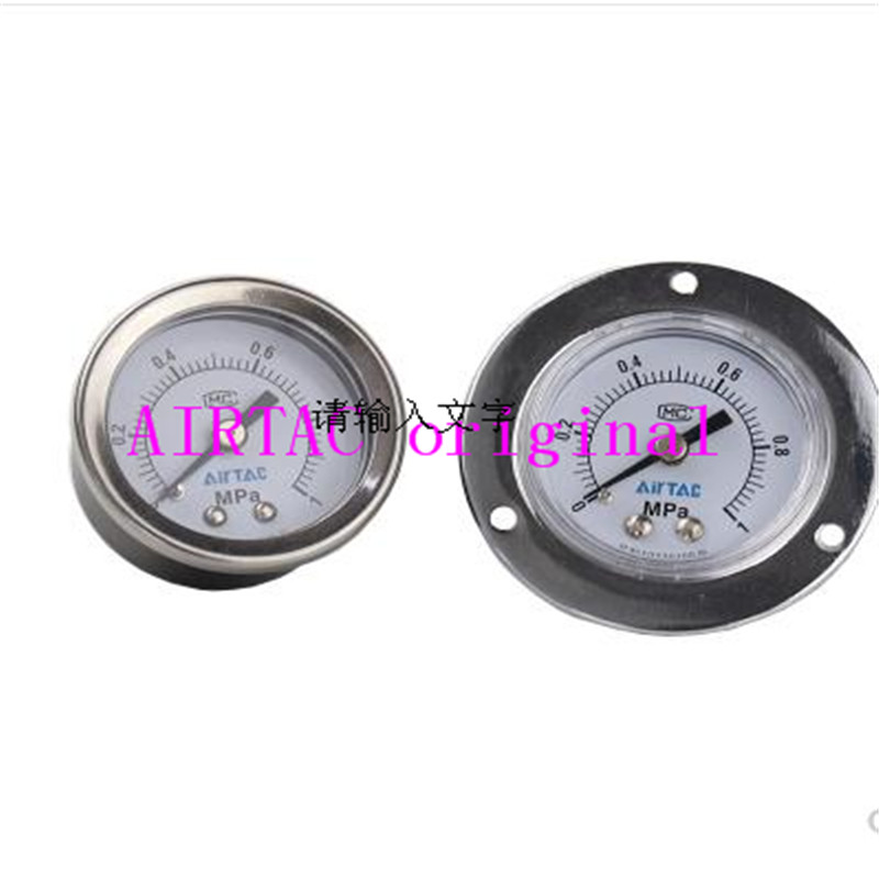Original AIRTAC passenger panel mounted pneumatic pressure gauge Axial pressure gauge F GS GU GF40 50 60 in Valves Parts from Automobiles Motorcycles