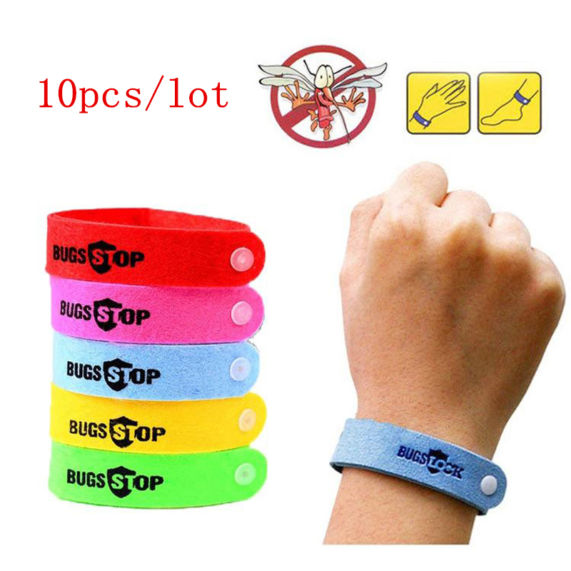 10Pcs/lot Bracelet Anti Mosquito Mozzie Insect Bugs Repellent Repeller Natural Wrist Bands Wristband Mosquito Killer DropShip(China)