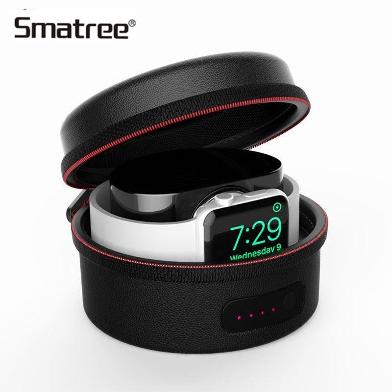 Smatree Charging For Apple Watch Protective Bag Charger Case For Apple Watch Series 4 3 2 1 Black/White