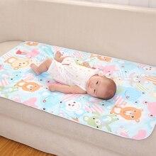 60*90 см, пеленальный коврик для ребенка, мультяшный хлопок, водонепроницаемый лист, пеленальный коврик для ребенка, пеленки для стола, писсуар, игровой матрас для новорожденных
