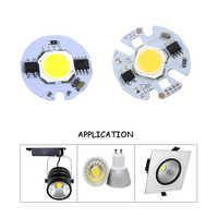 3 W/5 W/7 W/9 W inteligente IC Chip COB 27mm/32mm fuente de luz LED para bombillas de lámpara LED DIY reflector AC110V/220 V JQ