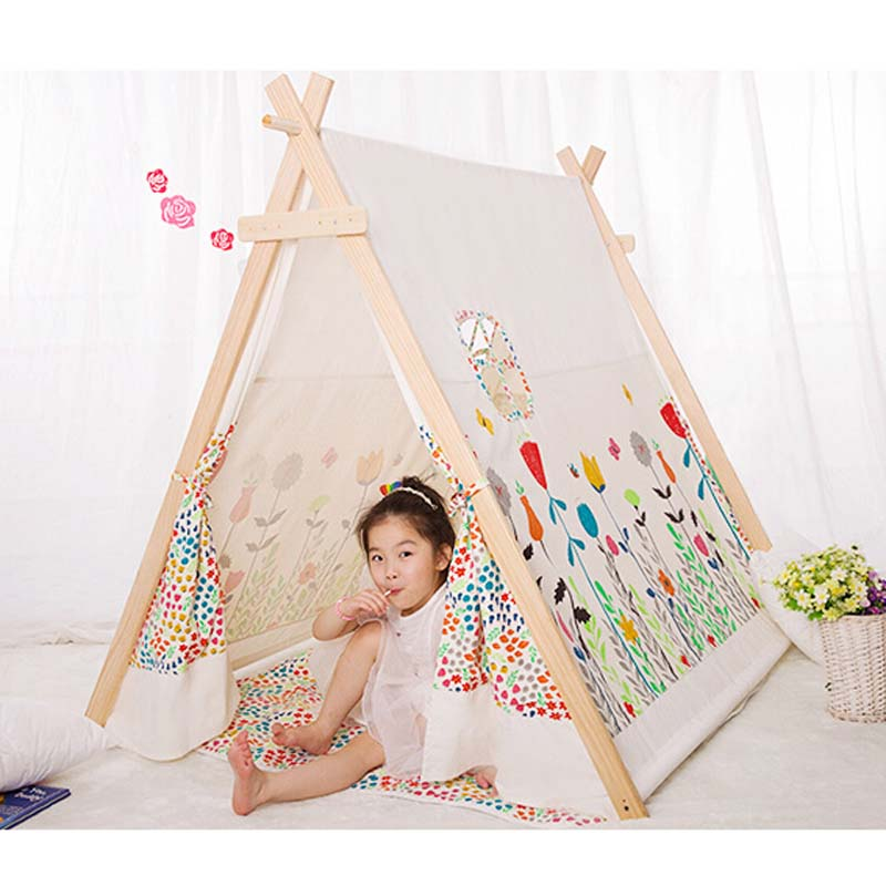 populaire 100 coton enfant tipi tente tissu tipi tente. Black Bedroom Furniture Sets. Home Design Ideas
