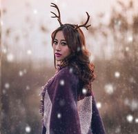 Free ship deer horn/antlers hairband/headwear/deer fairy cosplay/photo shooting hairband