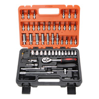 53pcs Automobile Motorcycle Car Repair Tool Precision Ratchet Wrench Set Sleeve Universal Joint Hardware Tool Kit