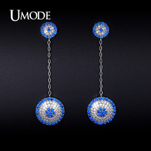 UMODE New Beautiful Simulated Diamond Dangle Earrings For Women Jewelry Fashion Brincos Para As Mulheres Christmas Gifts AUE0239