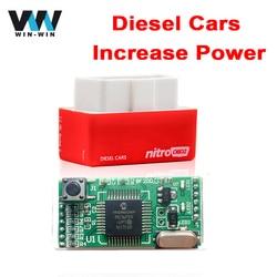 Plug & Drive NitroOBD2 ECU Chip Tuning Box for Diesel Cars OBD OBD2 Red Nitro OBD2 Diesel More Power More torque